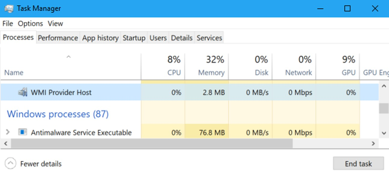 What is the WMI provider host (WmiPrvSE.exe)?