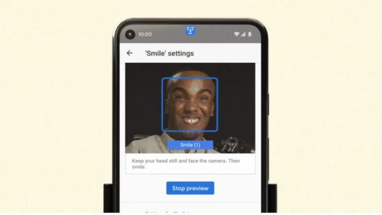 Operate Android phones with facial gestures