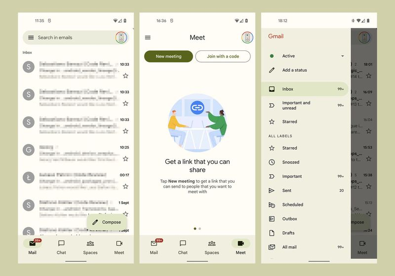 Gmail gets ready for Android 12: Its interface with 'Material You' looks like this
