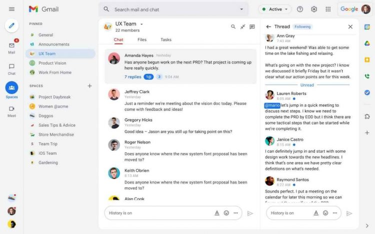 Google Workspace launches its equivalent to Slack