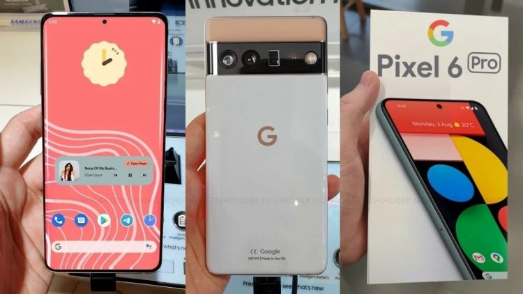 The Google Pixel 6 Pro is shown for the first time
