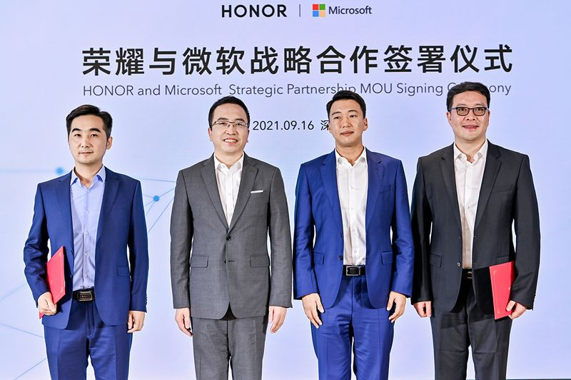 Microsoft and Honor sign agreements for the development of new products and services
