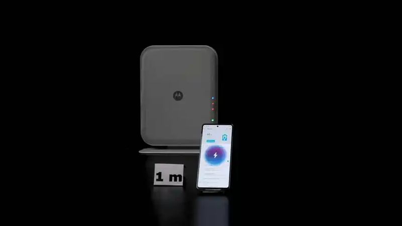Space Charging by Motorola, remote wireless charging for 4 cell phones at the same time