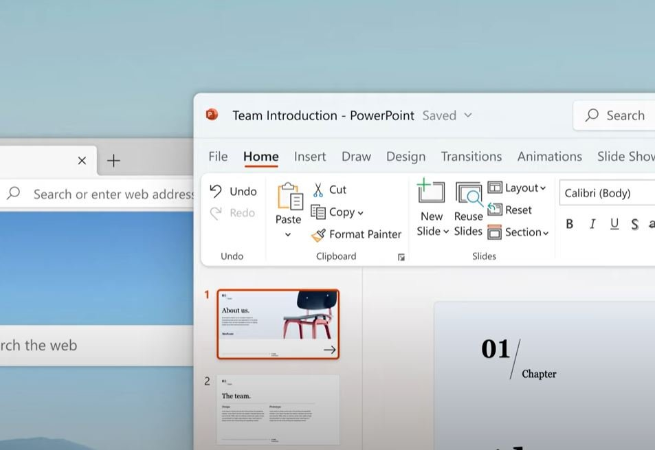 How to activate the new Microsoft Office UI in Windows?