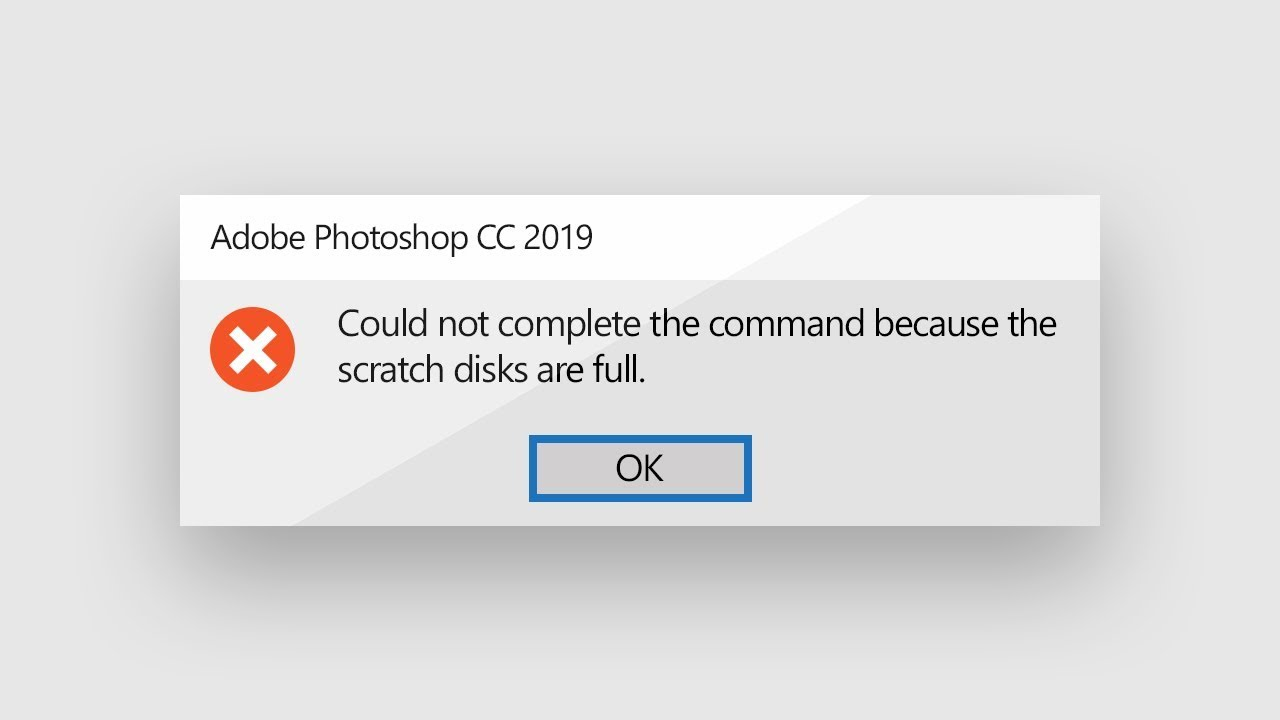 How to solve the scratch disks are full error in Photoshop in 2021?