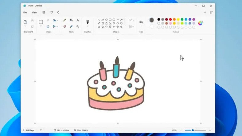 Redesigned Paint app for Windows 11 is now available for Insiders