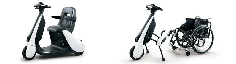 Toyota introduces a three-wheeled electric scooter: Toyota C+walkT
