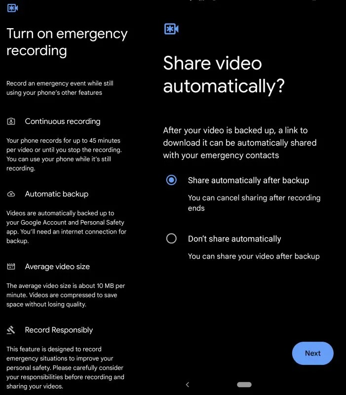 Pixel comes with a new app called Personal Safety for emergency scenarios