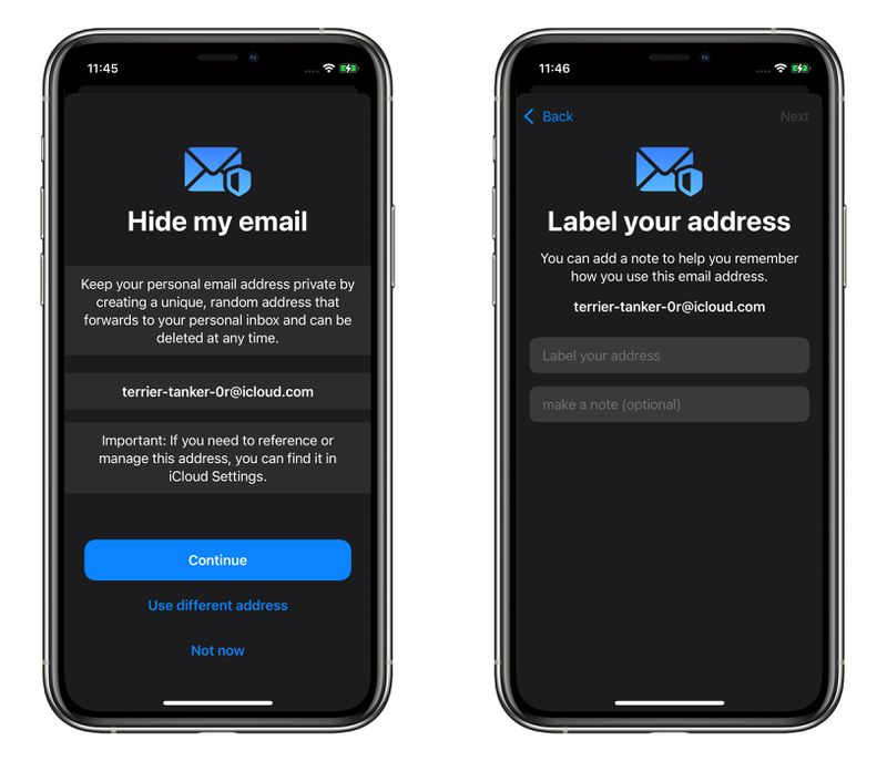How to create a disposable email address on iOS 15 using Hide My Email?