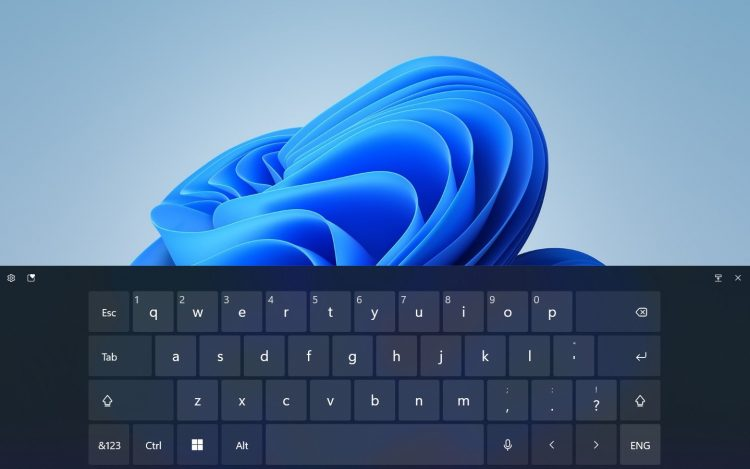 How to open the touch keyboard on Windows 11?
