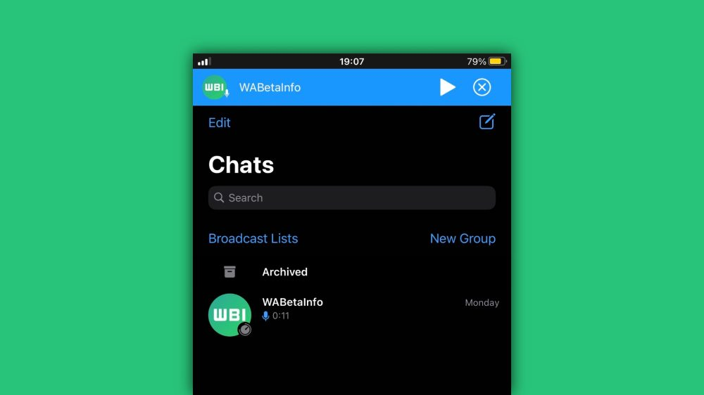WhatsApp will soon be able to pause voice recordings